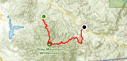 Otay Mountain Truck Trail to Marron Valley Road Map