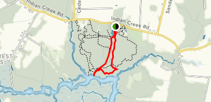 Deer Island and Shuttle Trail Loop to Otter Point Overlook Map