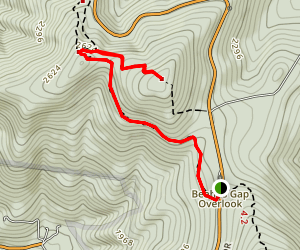 Byrds Nest Summit and Byrds Nest Shelter No. 4 via Appalachian Trail Map