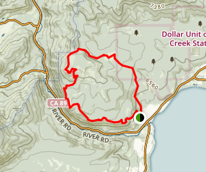 Tahoe City Rim Trail Loop Map