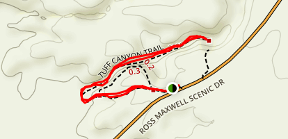 Tuff Canyon Trail Map