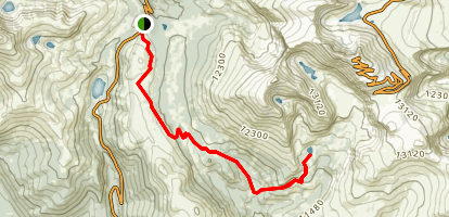 Guanella Pass, Rosalee Trail, Abyss Lake Map
