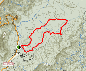 Pink Beds Trail Map