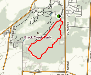 Black Creek Ridge and Wetlands Loop Trail Map