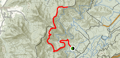 Greens Lick Trail Map