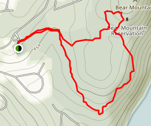 Bear Mountain Reservation Short Loop Map