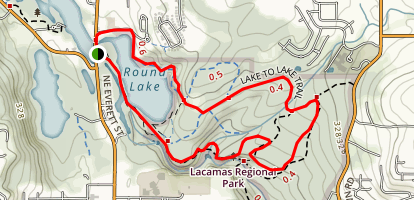 Lacamas Regional Park Loop Map
