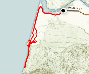 Paradise Beach Backpacking Map