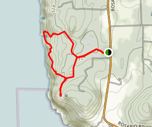 Sunburst and Porpoise Point Loop Map
