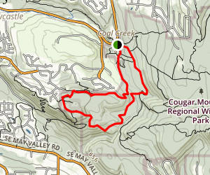 Red Town, Marshall's Hill, Wildside and De Leo Wall Loop Map