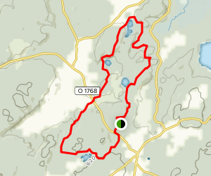 Bredared White Trail Map