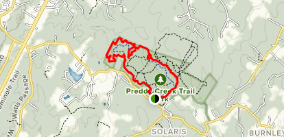 Preddy Creek Advanced Loop Map
