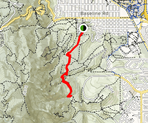 McClintock and Mesa Trails Map
