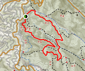 Phillips Loop to French Trail to West Ridge Trail Loop Map