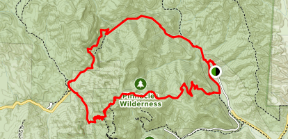 Old Pinnacles, Balconies Cliffs, Juniper Canyon, High Peaks and Bench Trail Loop Map