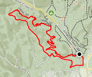 Trail 121 B and Fuel Wood Road Loop Map