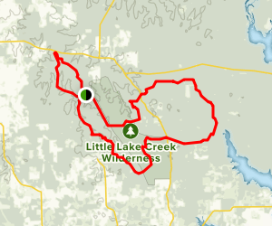 Lone Star Hiking Trail Grand Loop Map