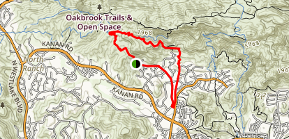 Falling Star Lindero Loop Map