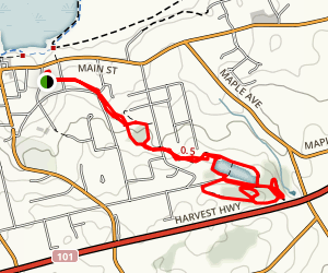 Millennial Trail to Reservoir Park Map