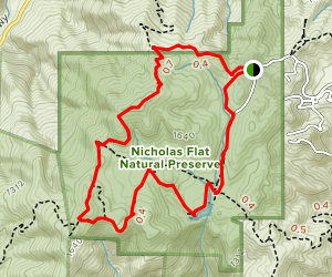 Nicholas Flat via Decker School Road Map