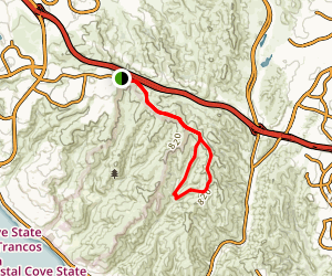 Bommer Ridge, Old Emerald and Emerald Canyon Road Loop Map