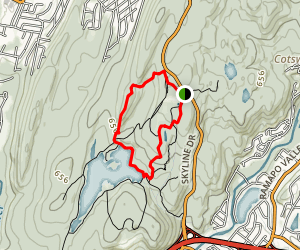 Ramapo Ruins Castle Point and Park Loop Trail Map