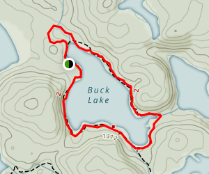 Buck Lake Loop Map