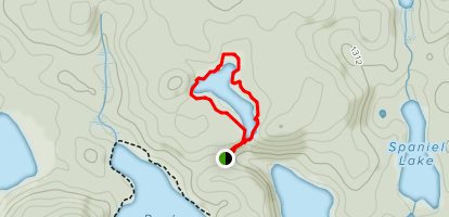 Steeple Lake Loop Map