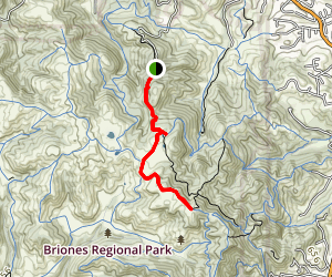 Briones Peak via Old Briones Road  Map