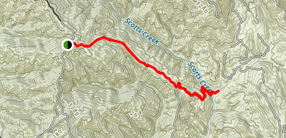 Glen Eden Trail - Mendo Rock to Goat Rock Map