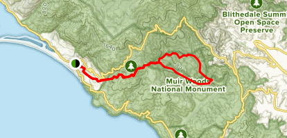 Dipsea to Ben Johnson Trail Loop Map