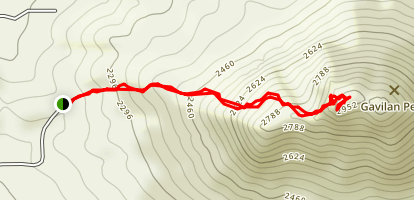 Gavilan Peak - West Route Map