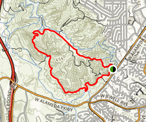 Green Mountain, Rooney Valley and Rooney Trail Loop Map