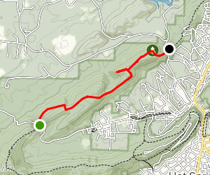Sunset Trail: Sugarloaf Mountain Section Map