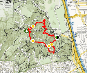 Mount Hollywood Trail Map