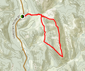 Coffin Mountain Loop Map