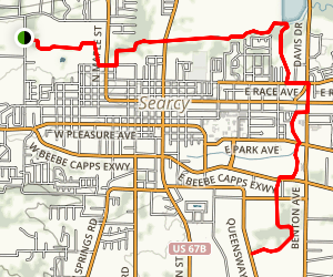 Searcy Bike and Walking Trail Map