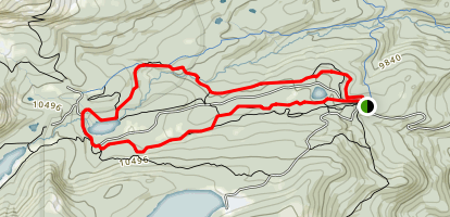 Waldrup Trail, St. Vrain Trail, and Mitchell Trail, Little Raven Trail to Brainard Lake Map