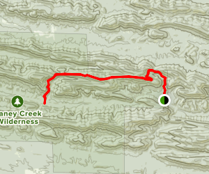 Buckeye Mountain to Caney Creek Trail Map