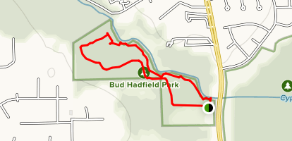 Bud Hadfield Park Trail Map