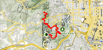 Pittock Mansion via Wildwood Trail [CLOSED] Map