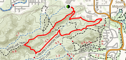 Ridgeline and Beverly Canyon Loop Map