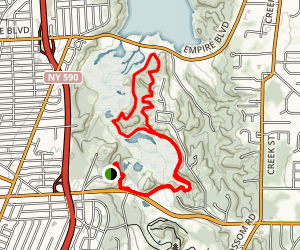 Lucien Moren Park Loop Trail from Knollbrook Road Map