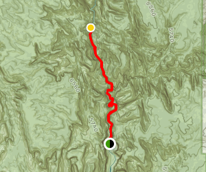 Zion Narrows Trail to Imlay Temple and Big Spring Map