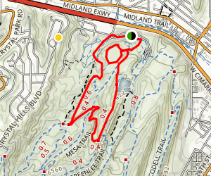 Red Rock Canyon: Dog Trails, and Quarry Map