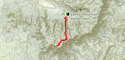 Signal Peak from Pine Valley Map