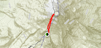 Pico de Orizaba South Face Trail Map
