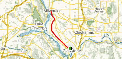Trolley Trail from Gladstone Map