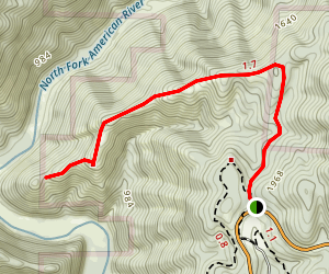 Driver's Flat Trailhead Map