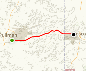 Bill Chipman Palouse Trail: Pullman to Moscow Map